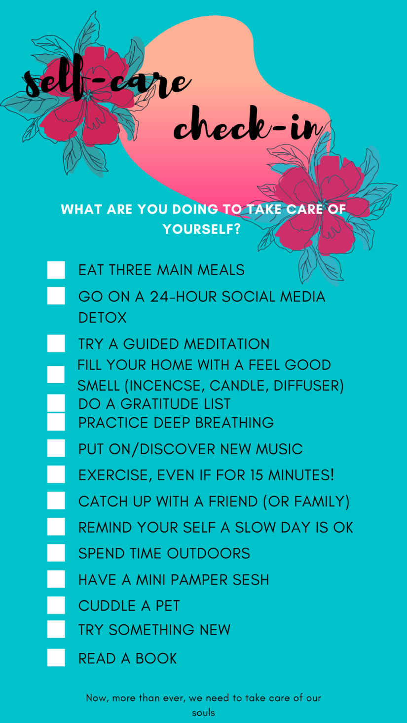 Blue Self-Care Checklist Advocacy Interactive Instagram Story
